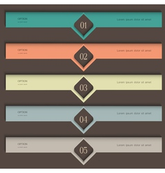 Creative colored Design template vector