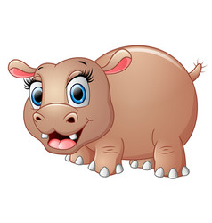 cute funny hippo vector image