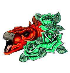 Dinosaurus stegosaurus head art vector