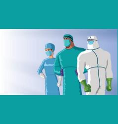 Doctors heroes dawn vector