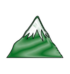 drawing mount fuji japan landscape natural image vector image