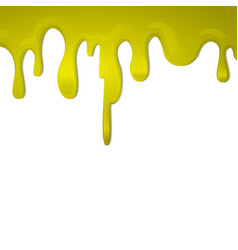 dripping golden honey on a white background vector image