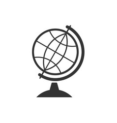 earth globe icon isolated flat design vector image