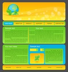 Eco nature environmental web template vector