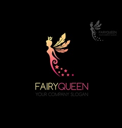 Fairy queen logo vector
