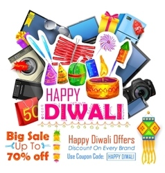 Festive Shopping Offer for Diwali holiday vector