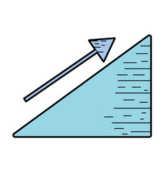 Financial triangle with arrow up to business vector