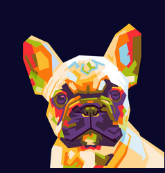 french bulldog pop art vector image