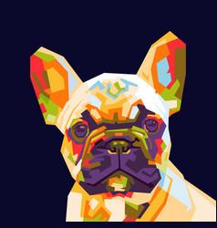 French bulldog pop art vector