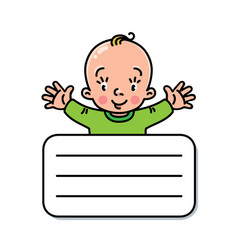 funny small baby design template vector image