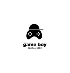 Game boy logo design vector