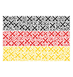 germany flag pattern of crossing swords items vector image