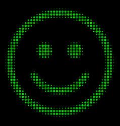 Glad smiley halftone icon vector