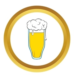 Glass of beer icon cartoon style vector