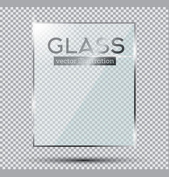 glass plate isolated on transparent background vector image
