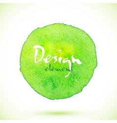 Green watercolor circle design element vector image