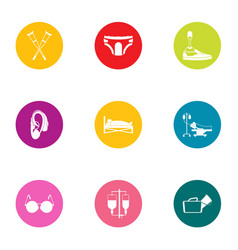 Handicapped icons set flat style vector