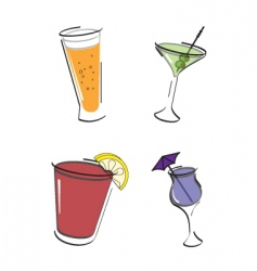 have a drink icon set vector image