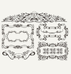 High Ornate Frames vector image