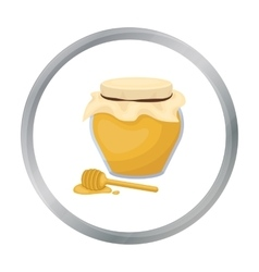 Honey icon in cartoon style isolated on white vector image vector image