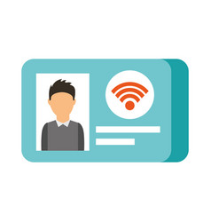 id card photo wifi vector image