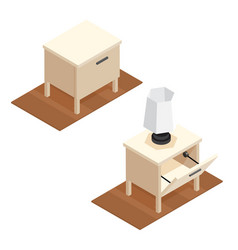 isometric nightstand vector image