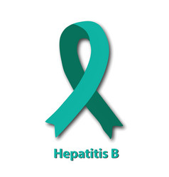 Jade ribbon hepatitis b virus world hepatitis day vector
