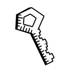 key door lock outline vector image