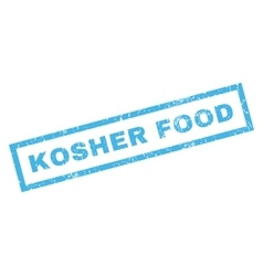 Kosher Food Rubber Stamp vector