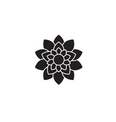 lotus flower black concept icon lotus vector image