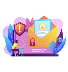 Malware computer virus concept vector