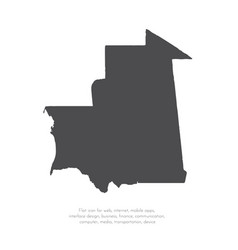 map mauritania isolated vector image