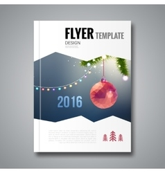 Merry Christmas Happy New Year trendy Brochure vector image