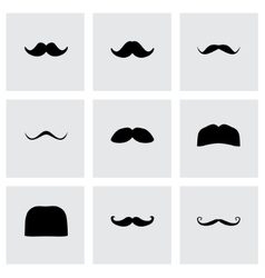 moustaches icon set vector image