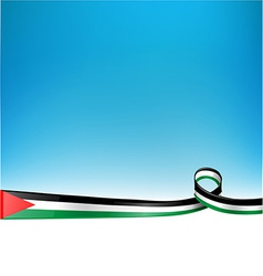 Palestine flag background vector