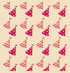 party hats pattern vector image