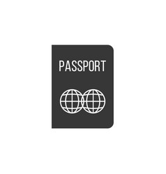 passport icon silhouette design vector image