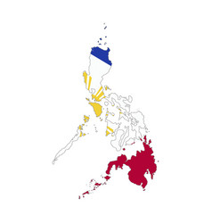 philippines country silhouette with flag on vector image