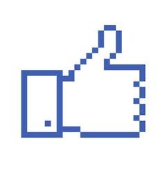 Pixelated Thumb Up vector image