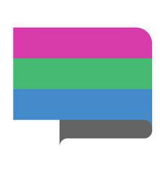 Polysexual pride flag vector