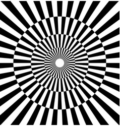 radiating lines contrasty pattern checkered circle vector image