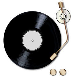 Record deck vector