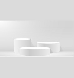 round podium or pedestal on minimal scene platform vector image