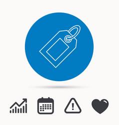 Sale tag icon price label sign vector