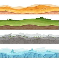 Seamless grounded surface parallax desert sand vector
