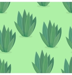 Seamless pattern of flower icons in flat design vector