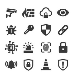 security icon set for web and app vector image