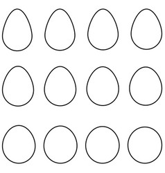 set egg shape set egg template with vector image