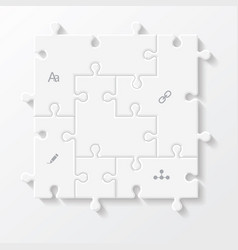 set of puzzle pieces business infographics vector image