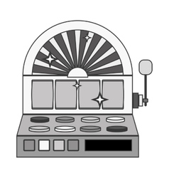 Silhouette slot machine with button panel vector